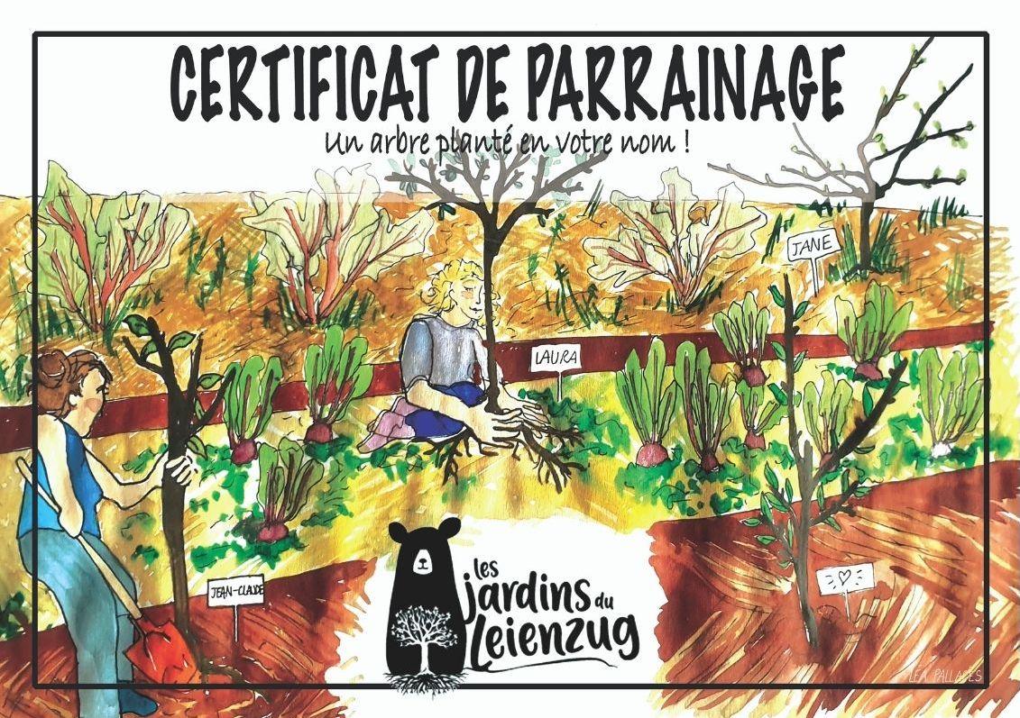 certificat parrainage arbre