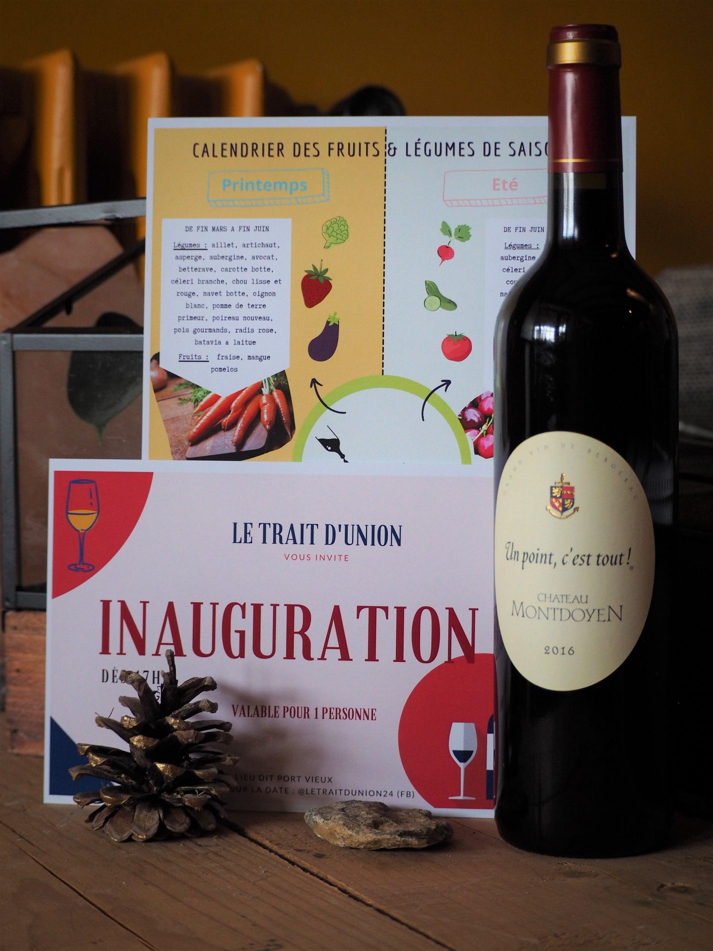 vin et invitation à l'inauguration