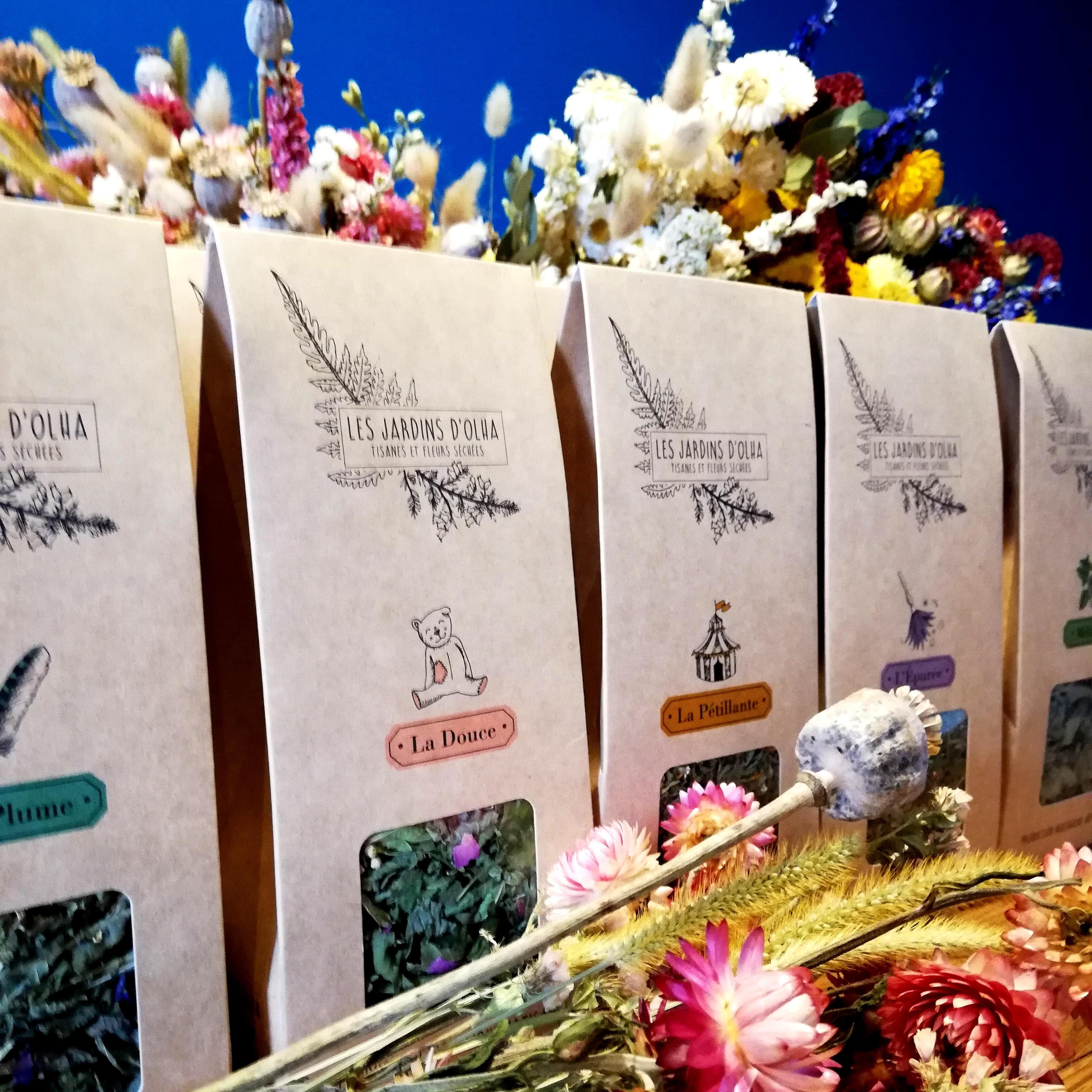 fleurs sechees jardins d'olha
