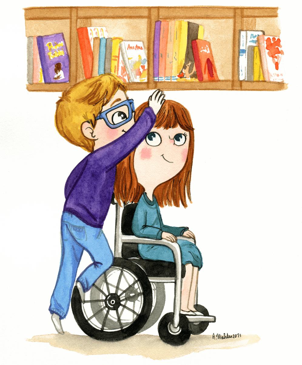 illustration anne mahler enfant handicap